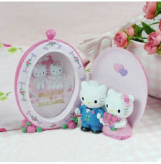 Hello Kitty Dear Daniel Pink Color Photo Frame Oval Shape Decoration Gift